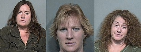 """The three women who were at the hotel room for the """"sticky"""" revenge."""